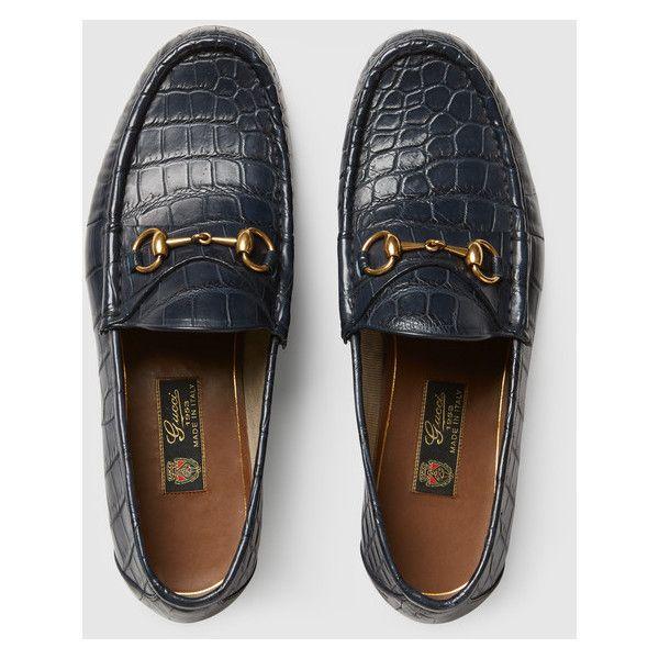33f4c34b977 Gucci 1953 Horsebit Crocodile Loafer (2