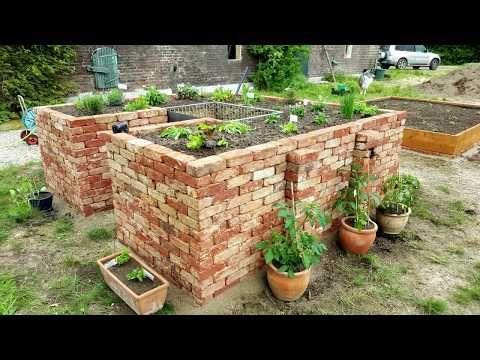 Hochbeet Selber Bauen Mit Ziegelsteinen Youtube Garten Hochbeet Gartendesign Ideen Gartendusche