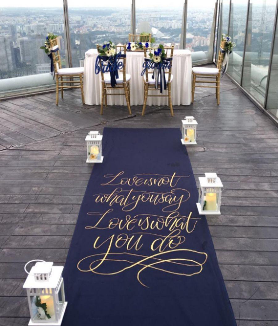 Creative Aisles 12 Meaningful Pretty Wedding Decor Ideas Navy