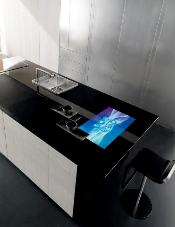 Toncellis high-tech kitchen: touchscreen worktop | Future Kitchen ...