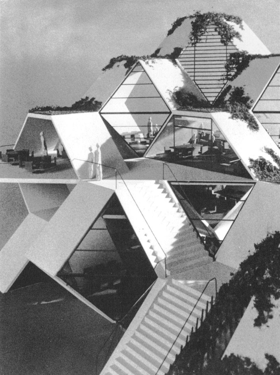 Student Union, San Francisco State College, California (Project) (Moshe  Safdie,. Architecture ...