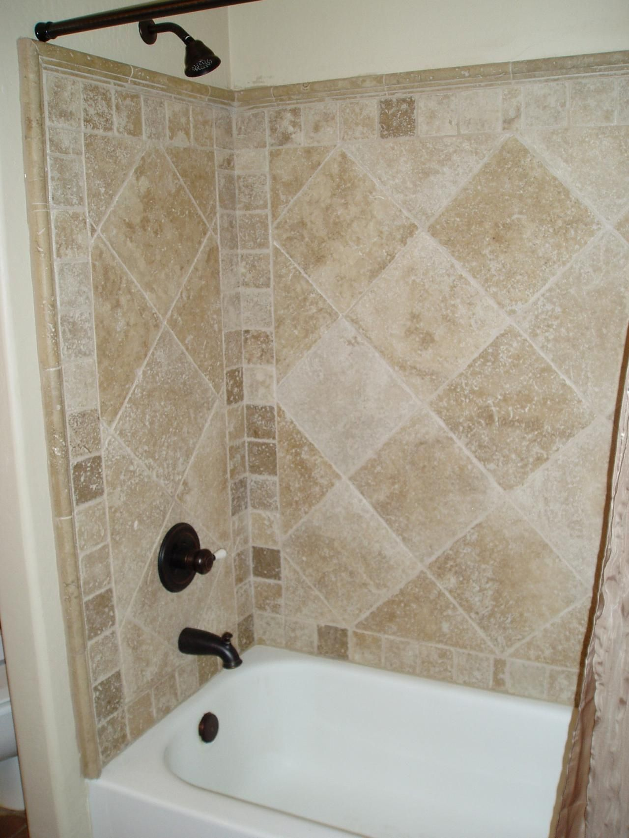 shower surrounds that look like tile | Your standard hall shower ...