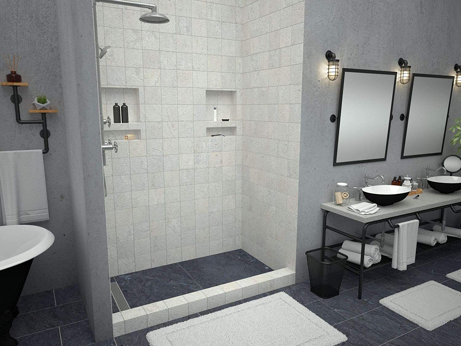 Tile Redi Redi Base 30 In X 54 In Double Threshold Shower Base