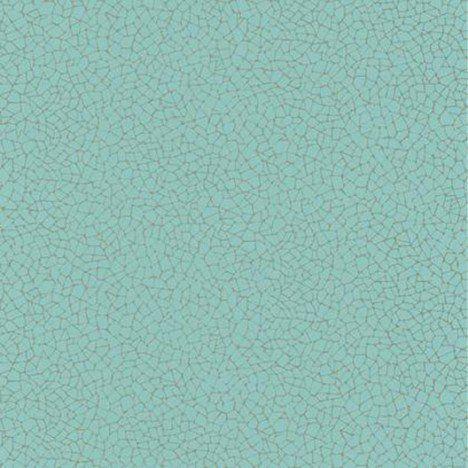 Papier peint craquelé turquoise clair et or intissé seine   Idée