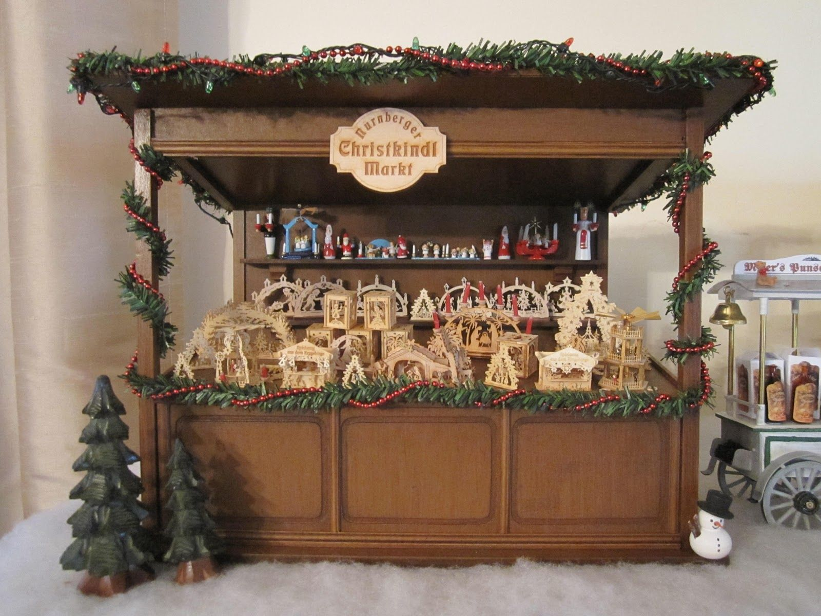 German christmas decorations wooden - Clay Miniatures