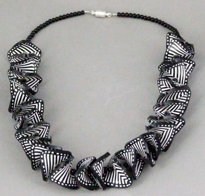 Necklace    Peg Gerard.  Polymer Clay