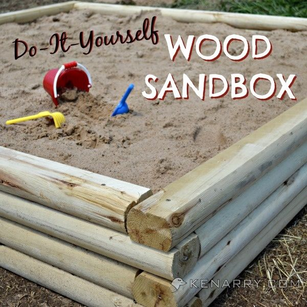 DIY Wood Sandbox Tutorial For Backyard Play Area