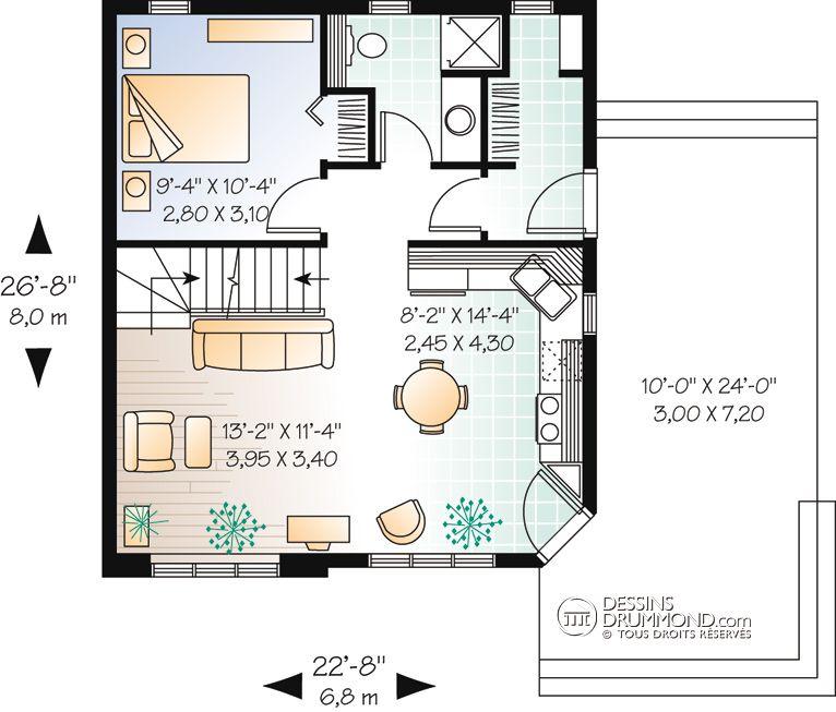 Champetre Bordure De Lac Chalet Mediterraneen W2919 Maison Laprise Maisons Pre Usinees Cottage Floor Plans Tiny Cottage Floor Plans House Plans