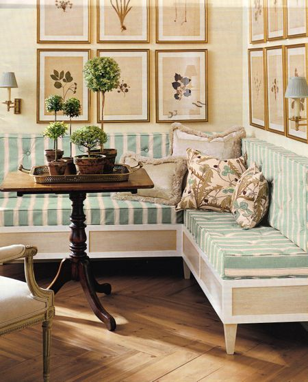 Banquette Corner Bench: Nook. I Like That The Built Ins Are Open At The Bottom