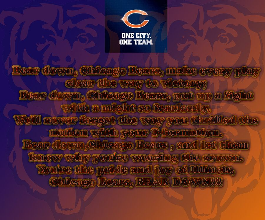 chicago bears song for women
