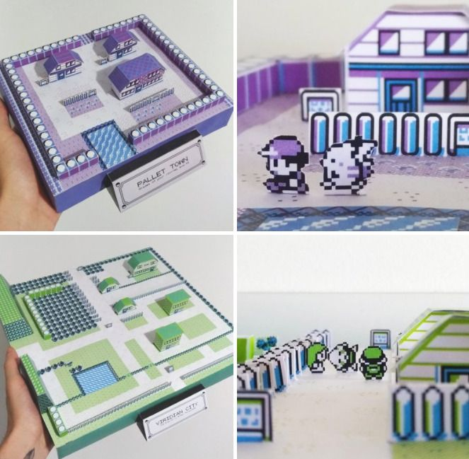 Papercraft Pokemon Cities made by Andre Pinho Kits available here -