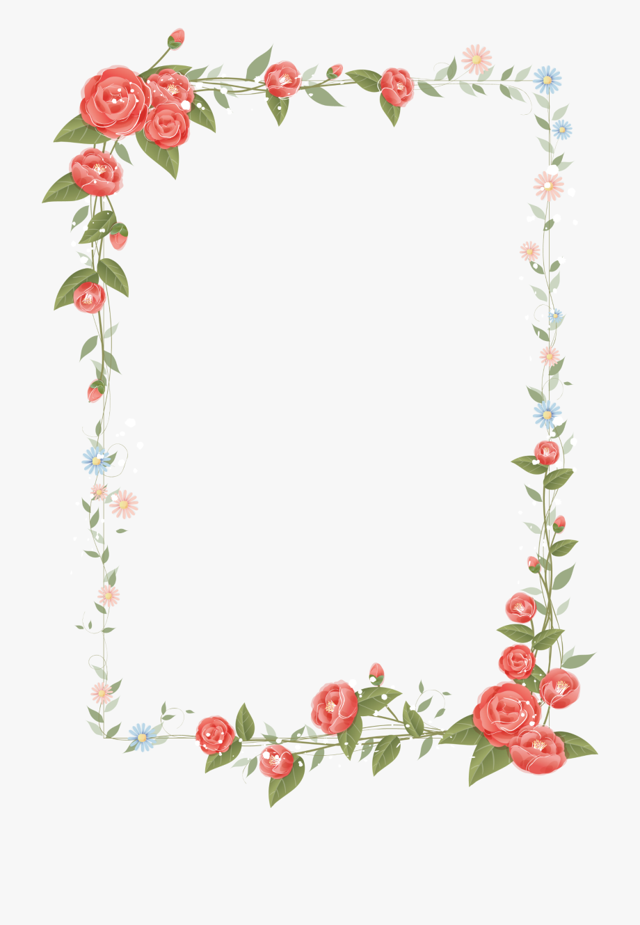 Download And Share Rose Frame Design Floral Flowers Border Clipart Border Flower Frame Design Cartoo Flower Border Clipart Flower Boarders Flower Border Png