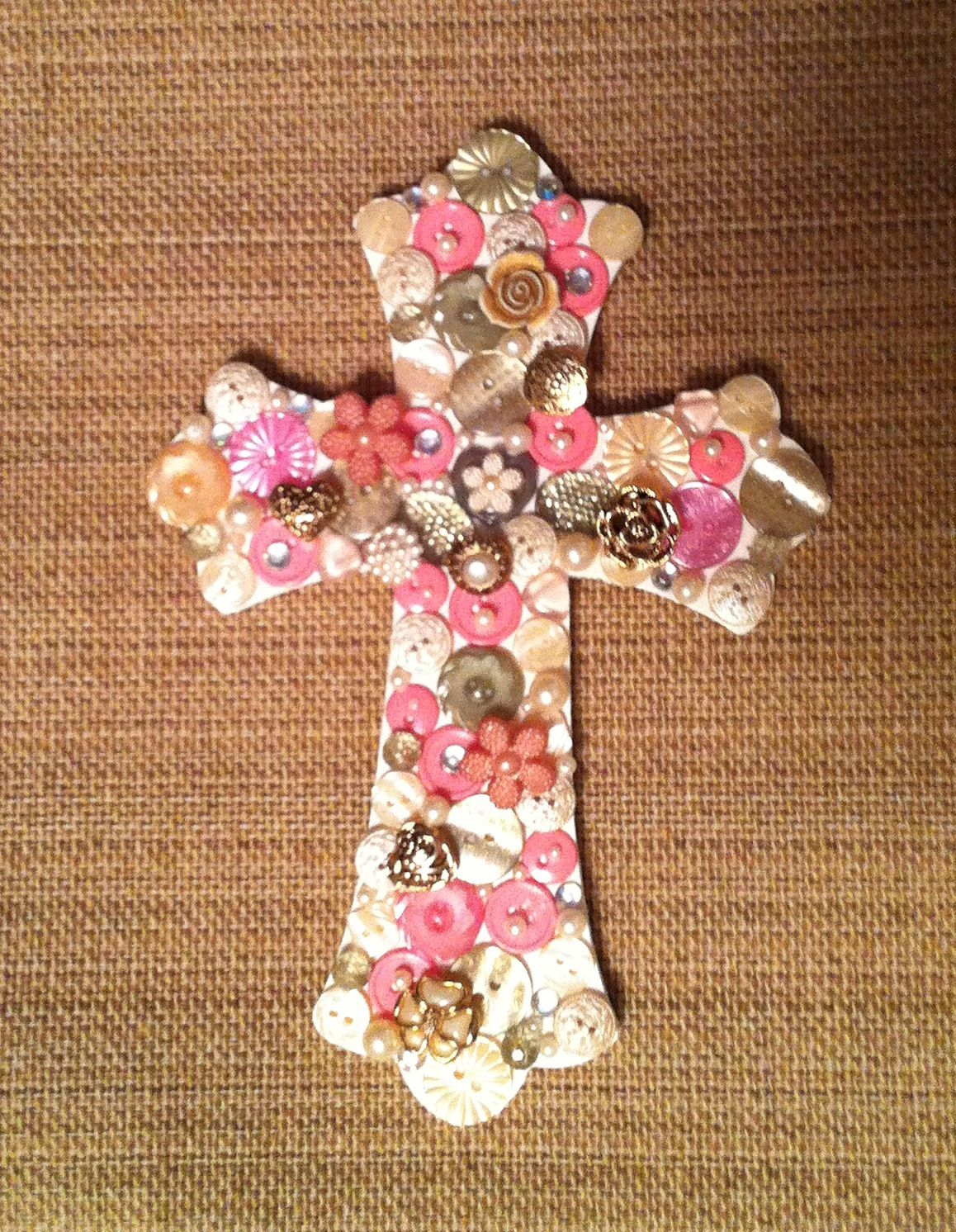 Painted And Decorated Wooden Cross Crafts Ideas Etc Wooden