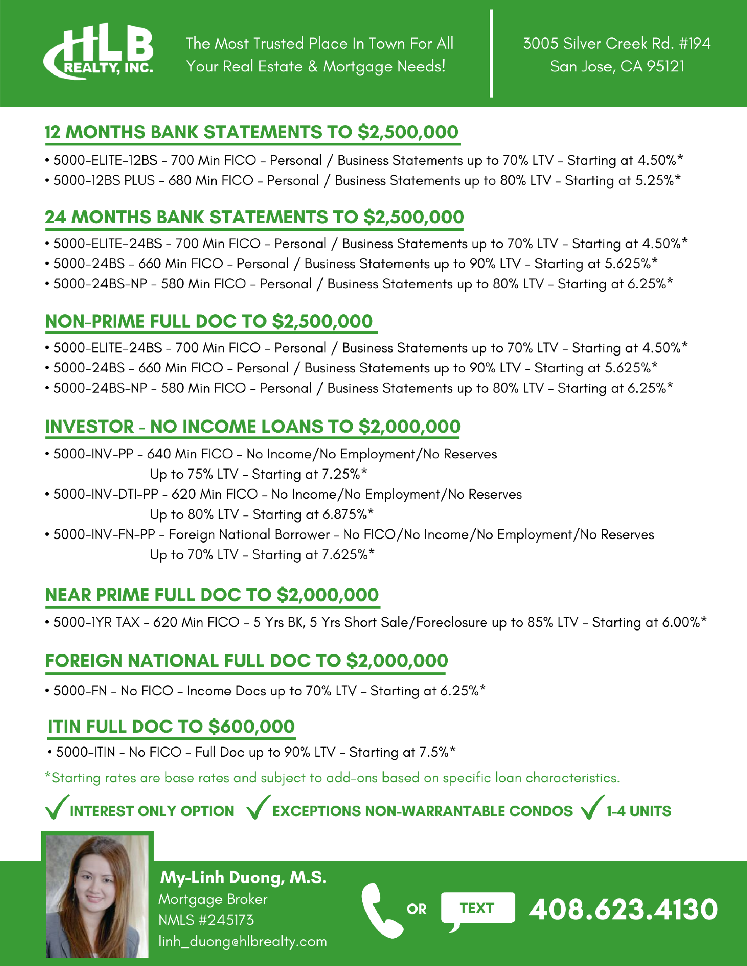 Check Out Our Current Loan Program Specials Have Any Questions Need Any Help With A Loan No Problem Call Business Person Mortgage Interest Mortgage Brokers