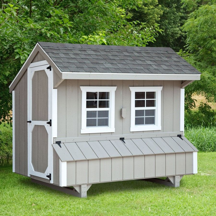 Easy Diy 4 X6 Chicken Coop Hen House Plans Pdf: Amish 5W X 8L Quaker Chicken Coop