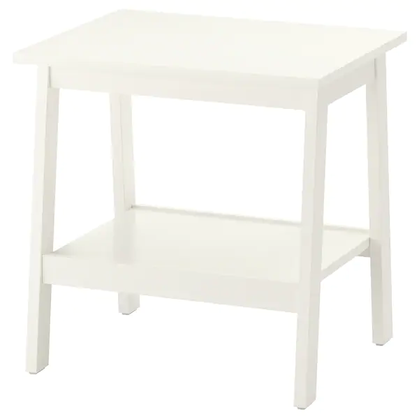 Lunnarp Table D Appoint Blanc 55x45 Cm Ikea In 2020 White Side Tables Ikea Side Table Living Room Table