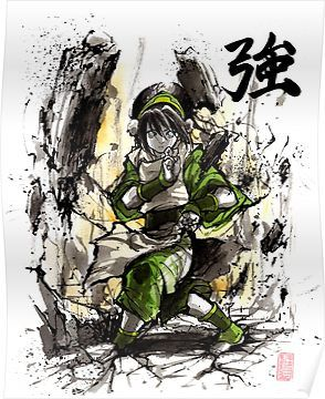 Sokka from Avatar Sumi and watercolor with Calligraphy iphone case