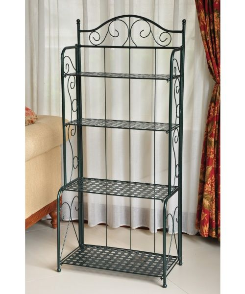 International Caravan Iron Folding Bakers Rack Casa De Campo Detalhes Casas