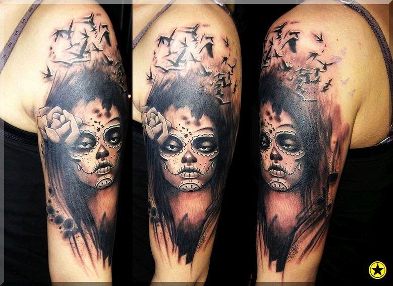 Santa Muerte Tatuaż Tatuaże Tatuaż Tatuaże I Edward