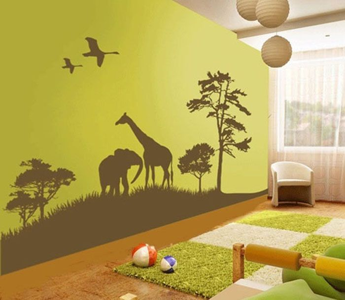 Delightful Astonishing Animal Wall Decals For Kids Bedroom: Animal Themes Wall Decals  To Cheering Up The