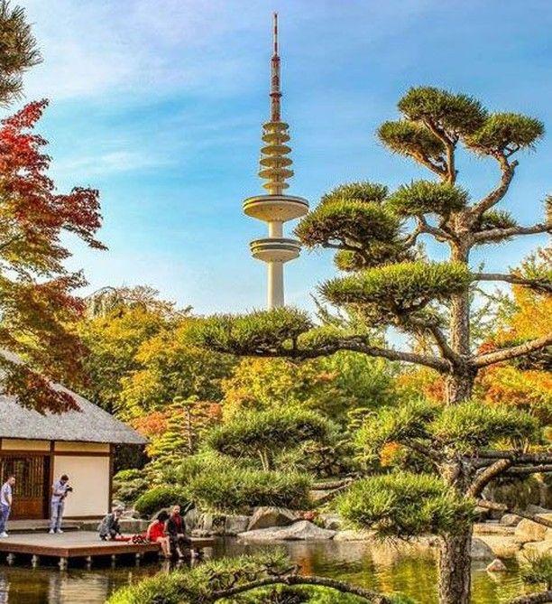 Der Telemichel Wunscht Euch Einen Schonen Montagabend Hamburg Steffi Hamburg Hamburgliebe Japanischer Garten Garten Design Garten