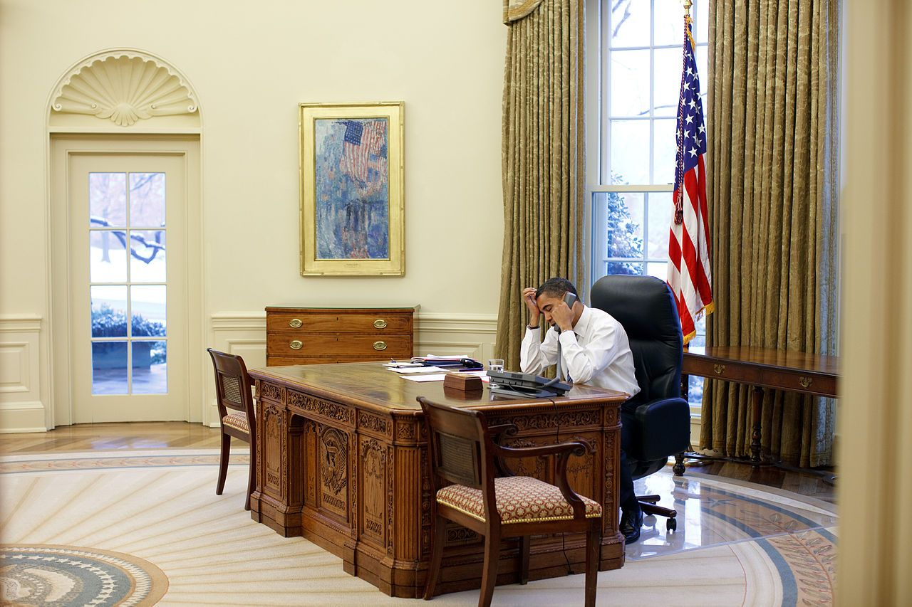 obamas oval office. Barack Obama Working At His Desk In The Oval Office - Childe Hassam Wikipedia Obamas