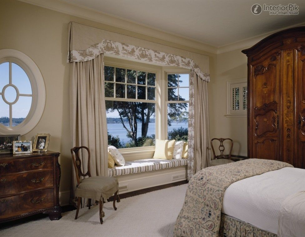 Curtains for Bay Windows | ... European-style bedroom elegant Bay ...