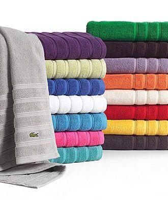 Lacoste Bath Towels Croc Solid 30 X 54 Bath Towel Bath Towels Bed Bath Macy S 14 99 Bath Towels Towel Lacoste
