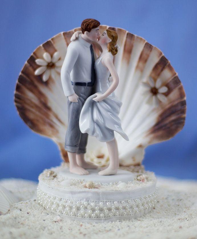 Beach Get Away Shell Wedding Cake Topper Beach Wedding Cake Beach Wedding Cake Toppers Beach Theme Wedding Cakes