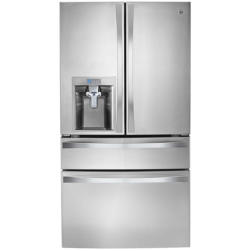Kenmore Elite 72483 29 9 Cu Ft 4 Door Bottom Freezer Refrigerator W Dispenser Stainless Steel In 2020 French Door Refrigerator Best Refrigerator Refrigerator