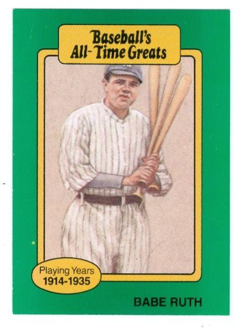 Babe Ruth Baseball Babe Ruth Baseball Card Baseballs All