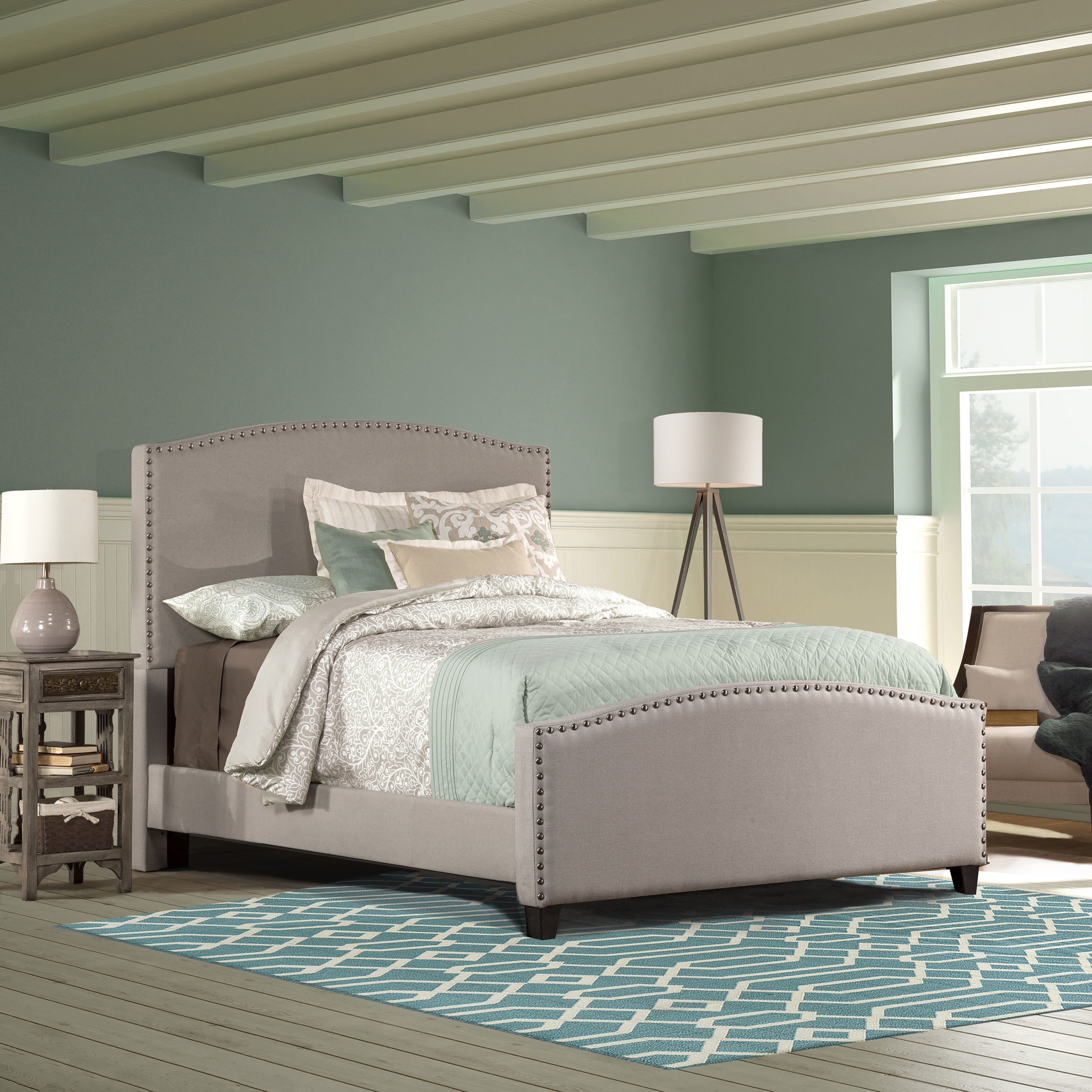 hillsdale kerstein dove grey upholstered bed twin grey