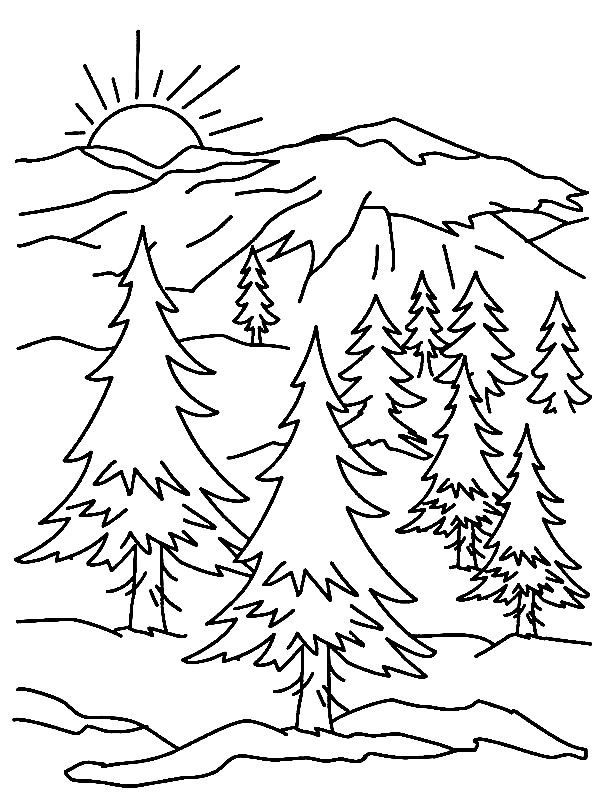 Mountains Coloring Pages | Library Crafting | Pinterest | Coloring ...