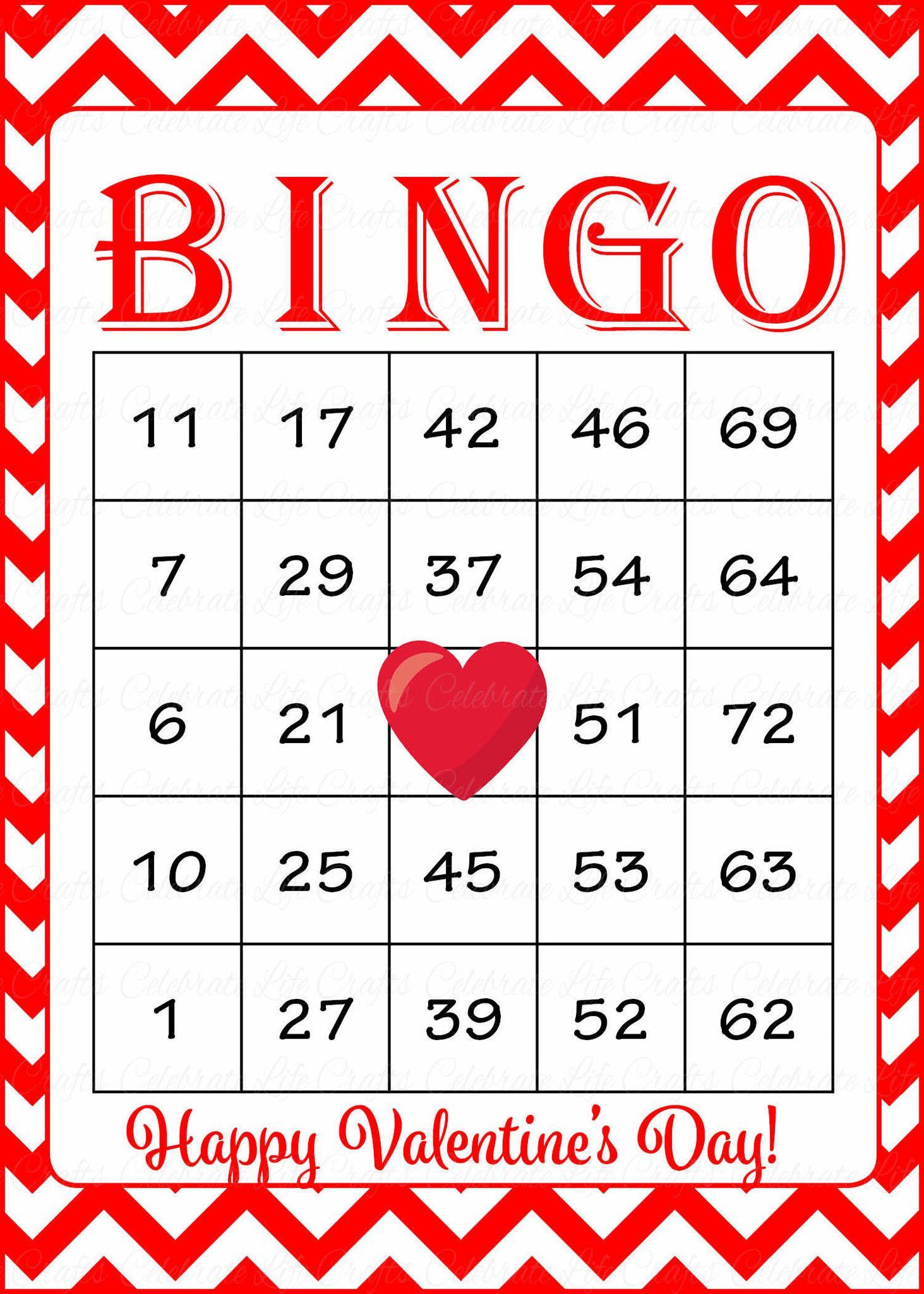 Valentine S Bingo Cards