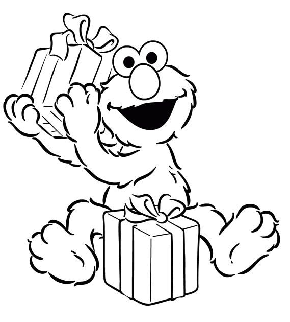 Elmo Get Gifts Coloring Page   printable do-dads   Pinterest   Elmo