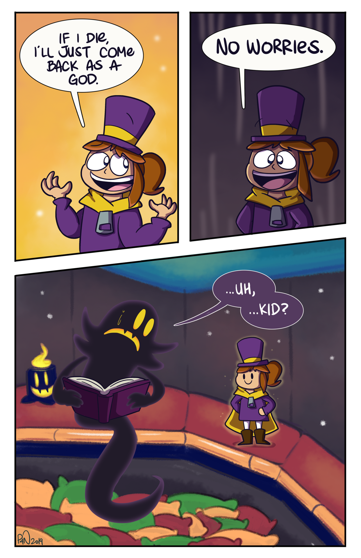 You Re Waiting For Me To Turn Blue Aren T You A Hat In Time A Hat In Time Memes Hat In Time