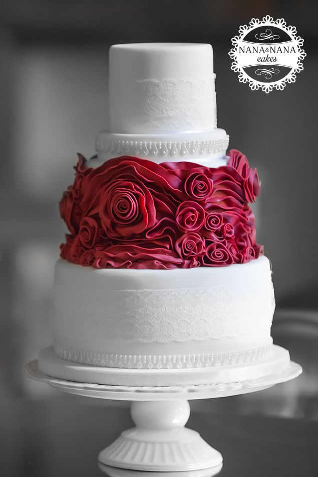 rose petal wedding cake tutorial ah yes amp i can use the lace on the other tiers cakes 19303