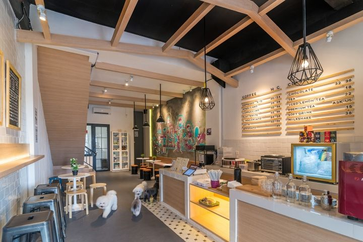 The Barkbershop Pet Grooming Studio \ Cafe by Evonil Architecture - innenraum gestaltung kaffeehaus don cafe