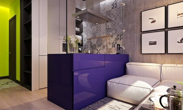 Superb A Pair Of Super Small Apartments With Dazzling Neon Accents