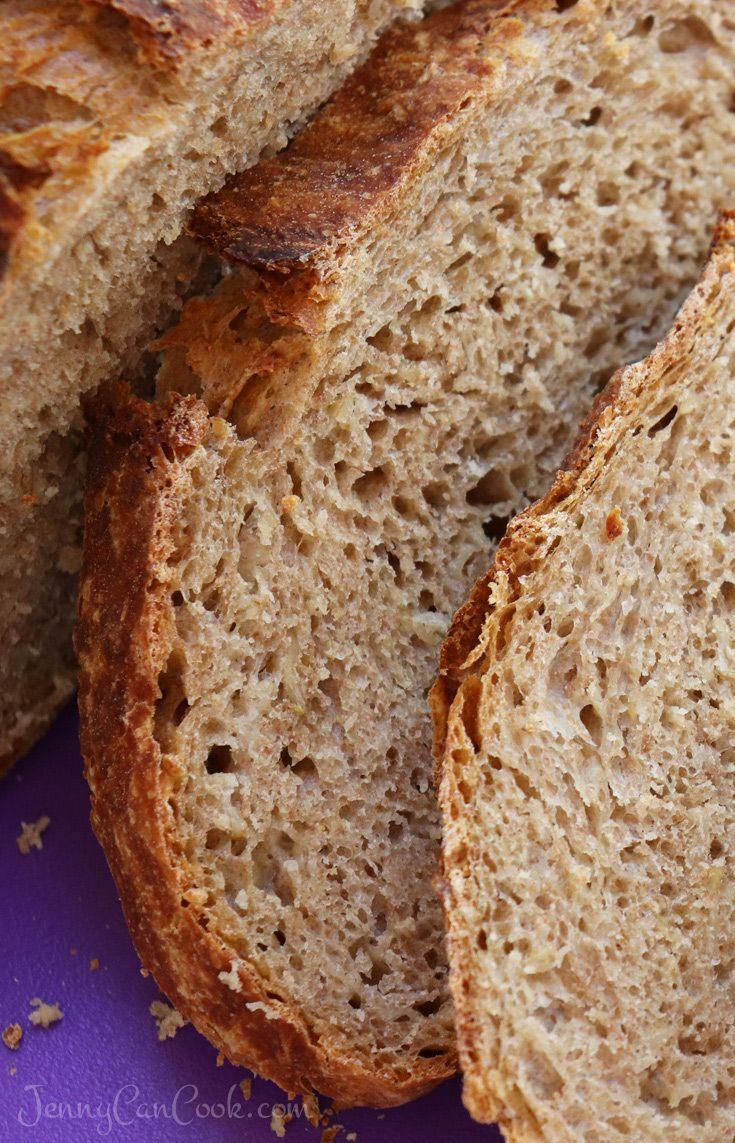 Multigrain No Knead Bread | Recipe in 2019 | No knead ...