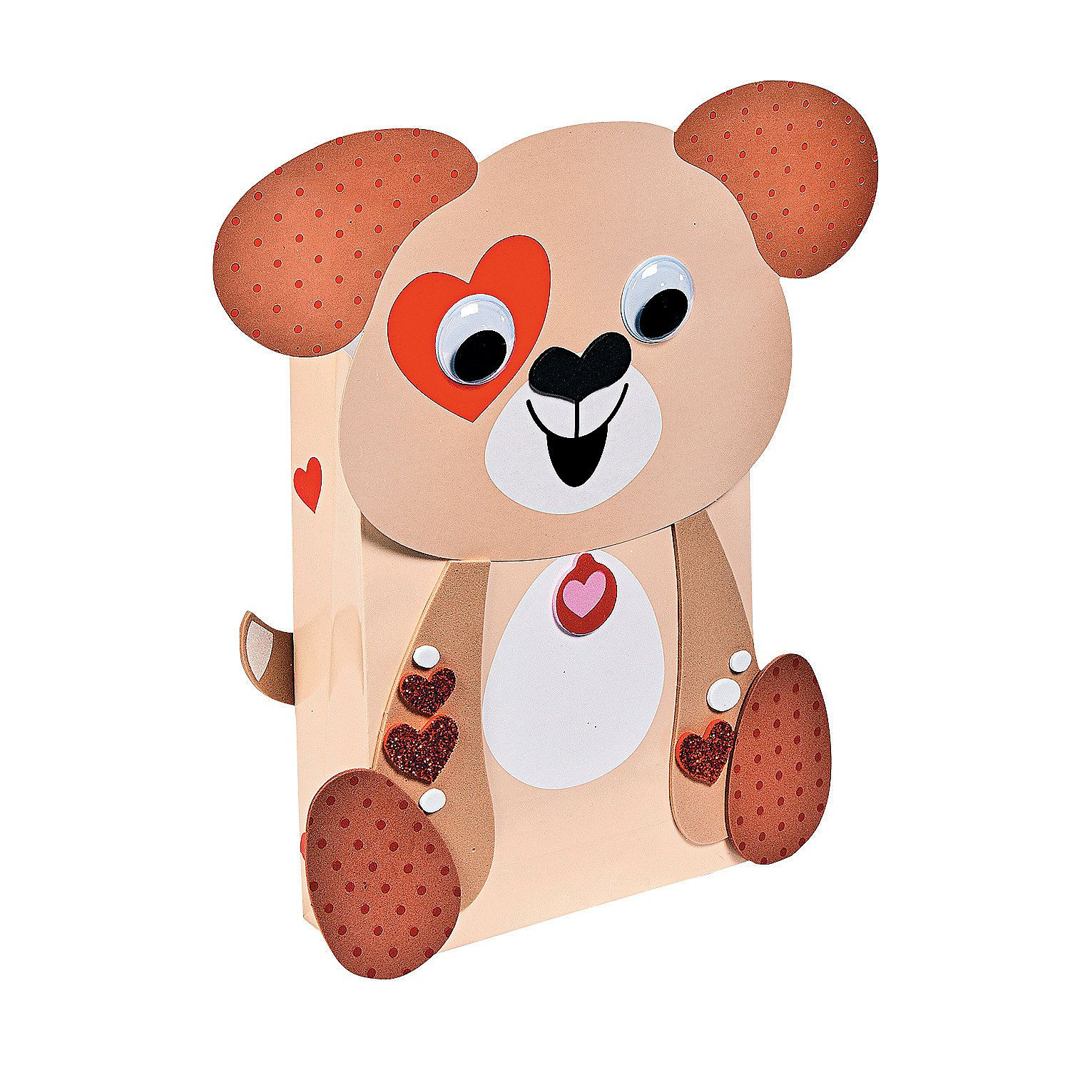 Craft kits for 4 year olds - Puppy Valentine Card Holders Craft Kit Valentine