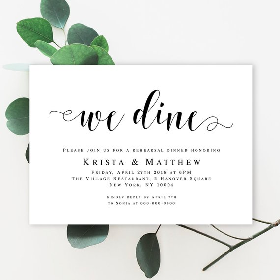 Wedding Rehearsal Invitation Template Download Party