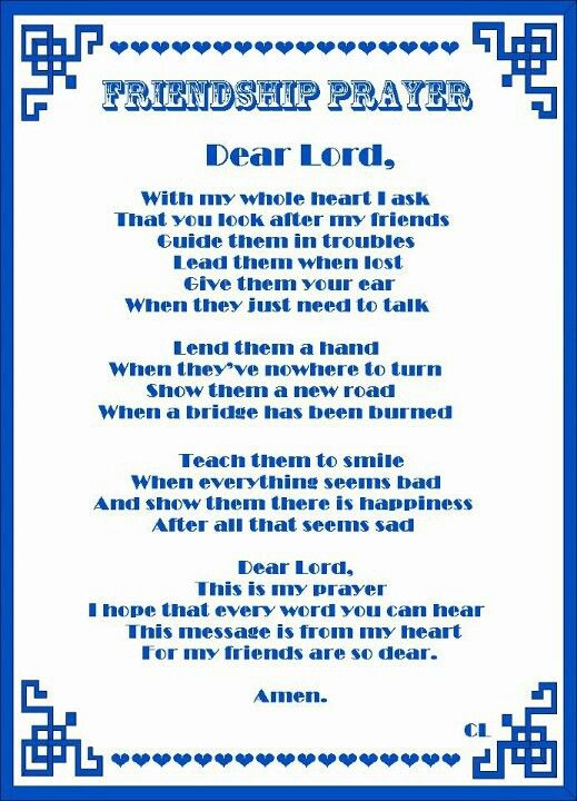 Friendship prayer prayers praise pinterest friendship friendship prayer altavistaventures Image collections