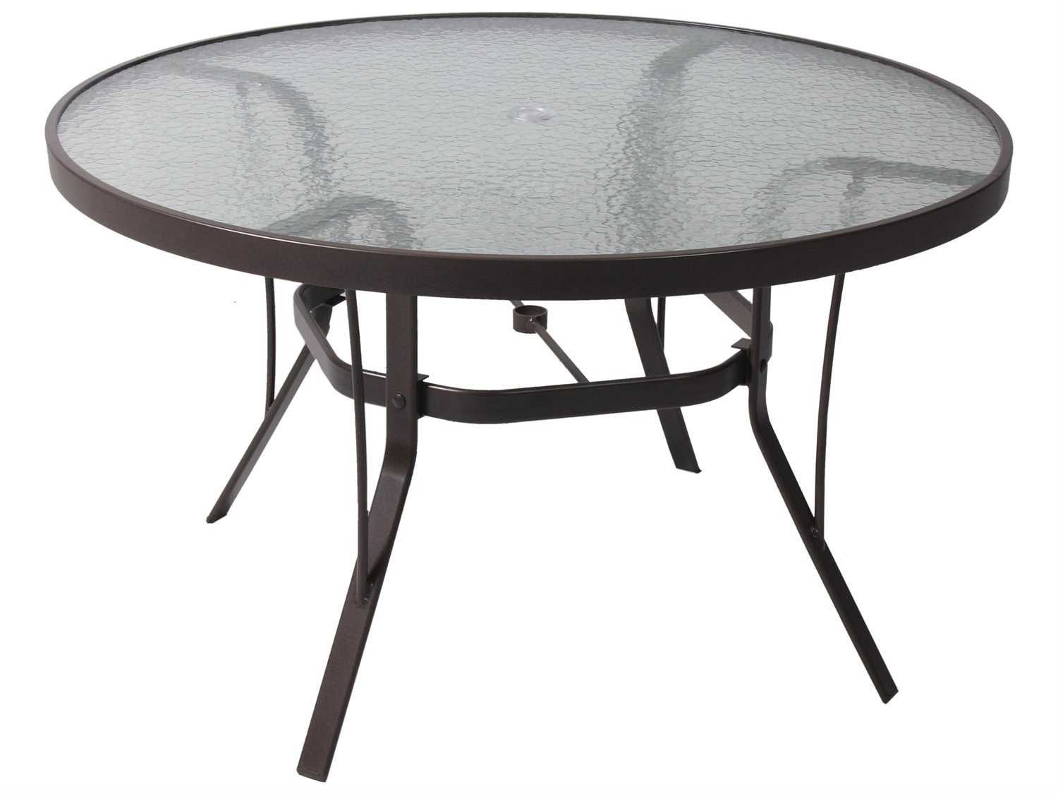 36 Round Gl Top Patio Table