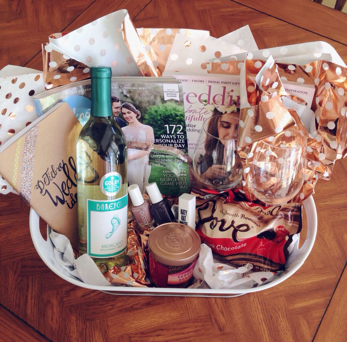 What To Get For A Wedding Gift: Engagement Gift Basket/Survival Kit! Everything Your