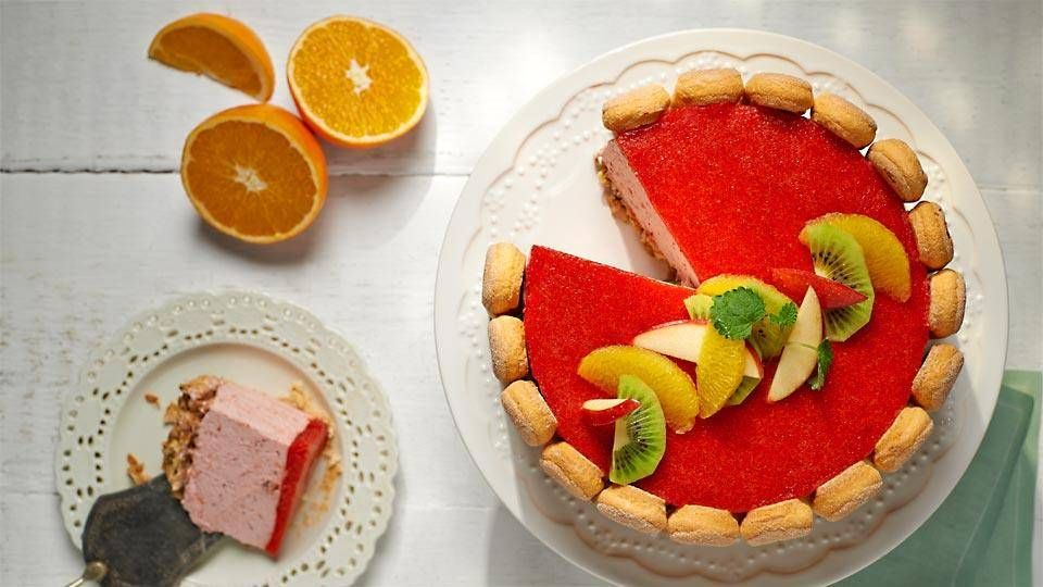 Tort Jogurtowo Owocowy Przepis Recipe Polish Desserts Desserts Food