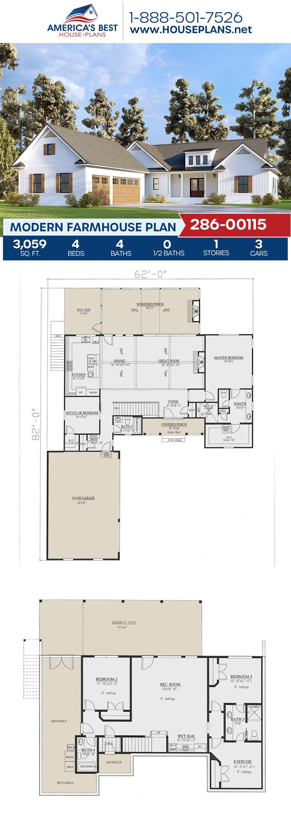 Modern Farmhouse Plan 286