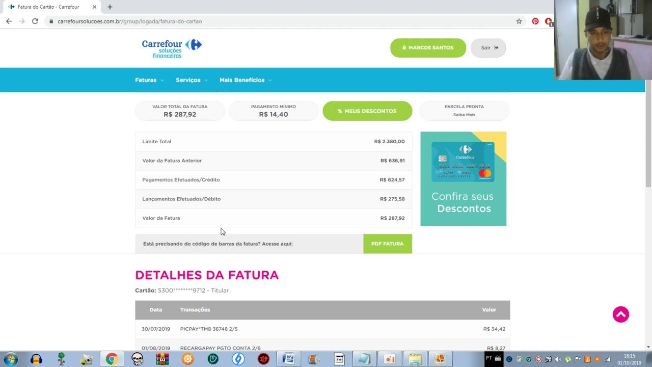 Como Imprimir 2º Via Fatura Carrefour 2019 Imprimir Tutoriais