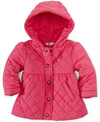 d3d56869d Ralph Lauren Baby Girls' Quilted Barn Jacket - Kids & Baby - Macy's ...