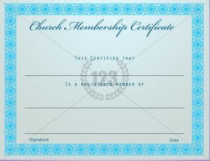 Church Certificate Template  Certificate Templates  Projects To